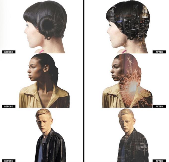 Adobe Photoshop Free Action Material フリー アクション 素材 合成 2つの画像 写真 組み合わせ かっこいい Free Double Exposure Photoshop Actions V1