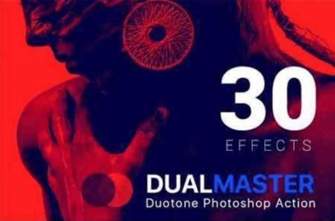 Adobe Photoshop Free Action Material フリー アクション 素材 お洒落 かっこいい デュオトーン Duotone DualMaster Duotone Photoshop Action