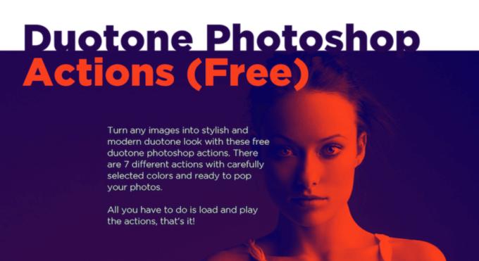 Adobe Photoshop Free Action Material フリー アクション 素材 お洒落 かっこいい デュオトーン Duotone