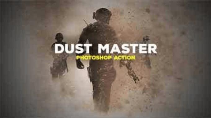Adobe Photoshop Free Action Material 無料 フリー アクション 素材 お洒落 かっこいい 砂 ダスト Dust Master