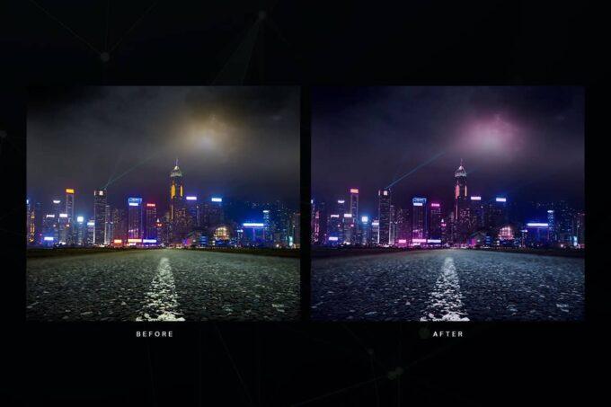 Adobe Photoshop Free Action Material フリー アクション 素材 イラスト グリッチ デジタル サイバー かっこいい Dystopian