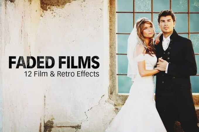 Adobe Photoshop Free Action Material フリー アクション 素材 ヴィンテージ レトロ FADAD FILMS