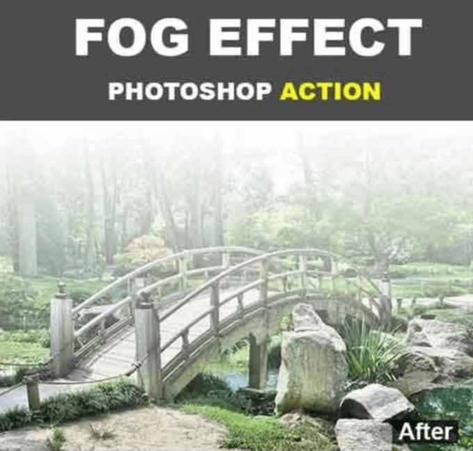 Adobe Photoshop Free Action Material フリー アクション 素材 お洒落 かっこいい 煙 スモーク フォグ Fog Effect Photoshop Action