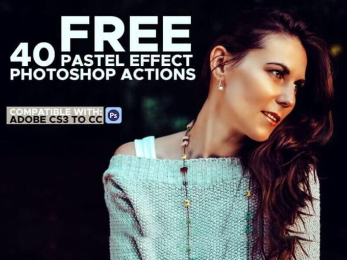 Adobe Photoshop Free Action Material フリー アクション 素材 インスタグラム フィルター Instagram Free 40 Pastel Effect Photoshop Actions
