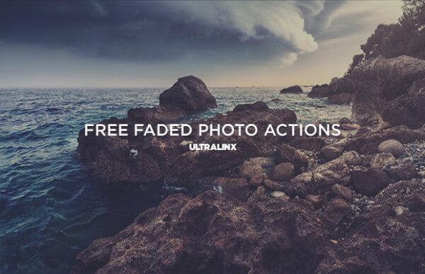 Adobe Photoshop Free Action Material フリー アクション 素材 ヴィンテージ レトロ オールドフィルム FREE FADED RETRO PHOTO ACTIONS