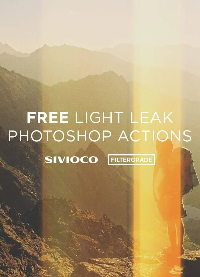 Adobe Photoshop Free Action Material フリー アクション 素材 フィルムカメラ ライトリークス Free Light Leak Photoshop Actions from Sivioco