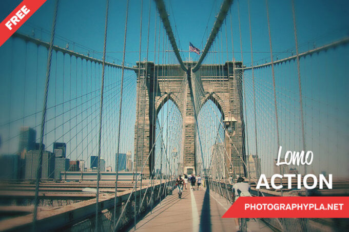 Adobe Photoshop Free Action Material フリー アクション 素材  ユニーク 加工 Free Lomo Photoshop Action