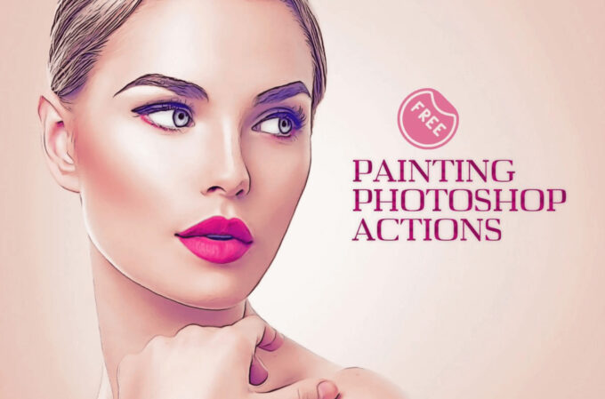 Adobe Photoshop Free Action Material フリー アクション 素材 コミック イラスト Free Oil Painting