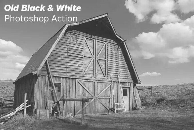 Adobe Photoshop Free Action Material フリー アクション 素材 モノクロ 白黒 Black&White Free Old Black & White