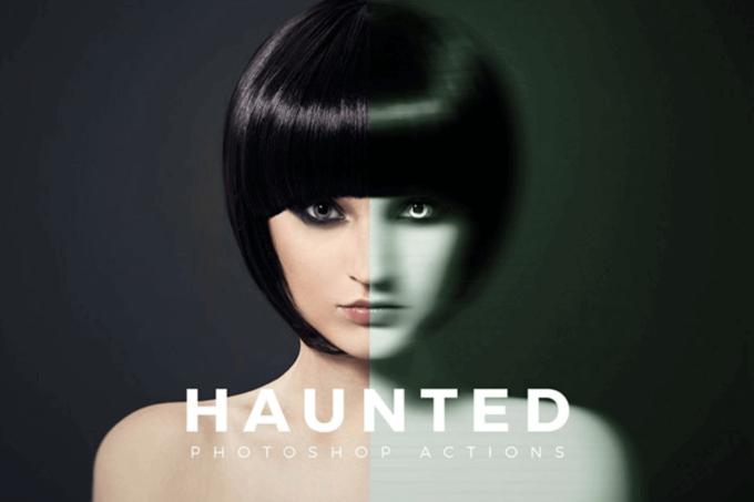 Adobe Photoshop Free Action Material フリー アクション 素材 イラスト ホラー 怖い ハロウィン HAUNTED