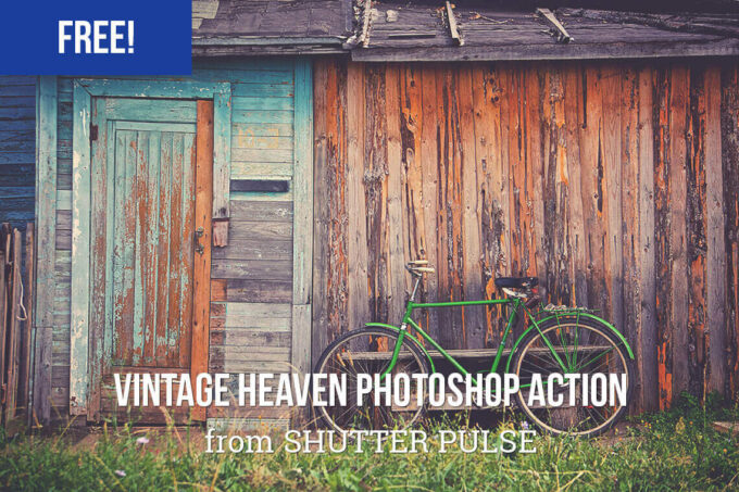 Adobe Photoshop Free Action Material フリー アクション 素材 ヴィンテージ レトロ オールドフィルム Free Vintage Heaven Photoshop Action