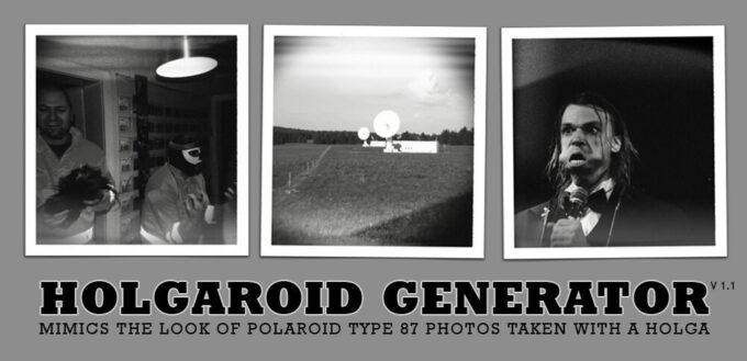 Adobe Photoshop Free Action Material フリー アクション 素材 モノクロ 白黒 HolgaRoid Generator BW