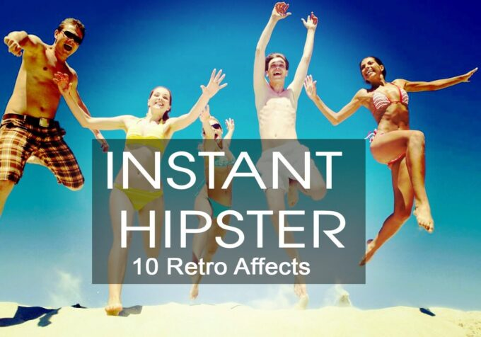 Adobe Photoshop Free Action Material フリー アクション 素材 ヴィンテージ レトロ オールドフィルム Instant Hipster - 10 Retro Actions