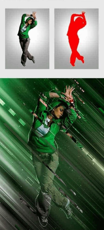 Adobe Photoshop Free Action Material 無料 フリー アクション 素材 お洒落 かっこいい Lines Photoshop Action