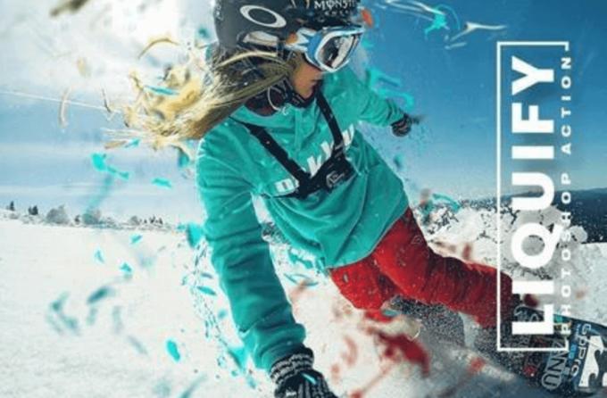 Adobe Photoshop Free Action Material フリー アクション 素材 ユニーク お洒落 かっこいい Liquify Photoshop Action