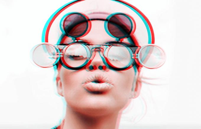 Adobe Photoshop Free Action Material フリー アクション 素材 イラスト グリッチ デジタル サイバー かっこいい Lomo