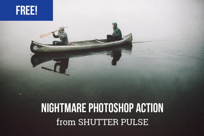 Adobe Photoshop Free Action Material フリー アクション 素材 イラスト ホラー 怖い ハロウィン Free Nightmare Photoshop Action