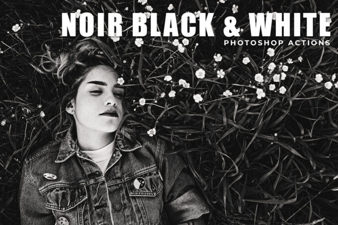Adobe Photoshop Free Action Material フリー アクション 素材 モノクロ 白黒 Noir Black & White Free Photoshop Actions