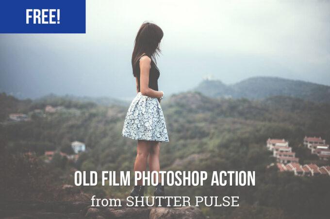 Adobe Photoshop Free Action Material フリー アクション 素材 ヴィンテージ レトロ オールドフィルム マット Old Film Photoshop Action