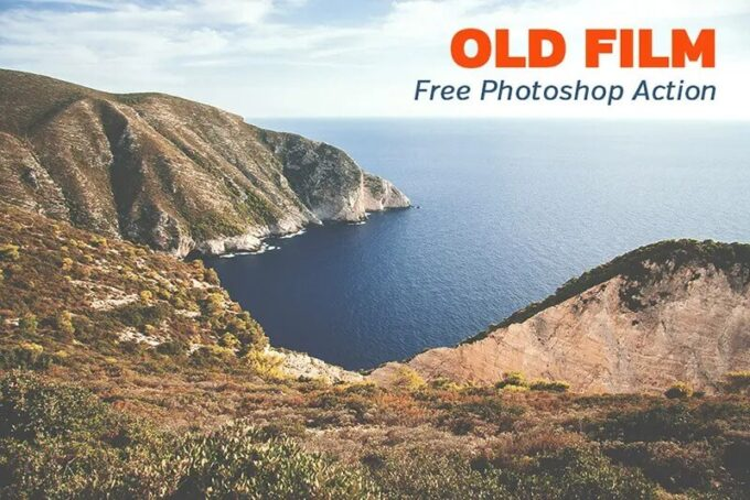 Adobe Photoshop Free Action Material フリー アクション 素材 ヴィンテージ レトロ オールドフィルム Free Old Film Photoshop Action