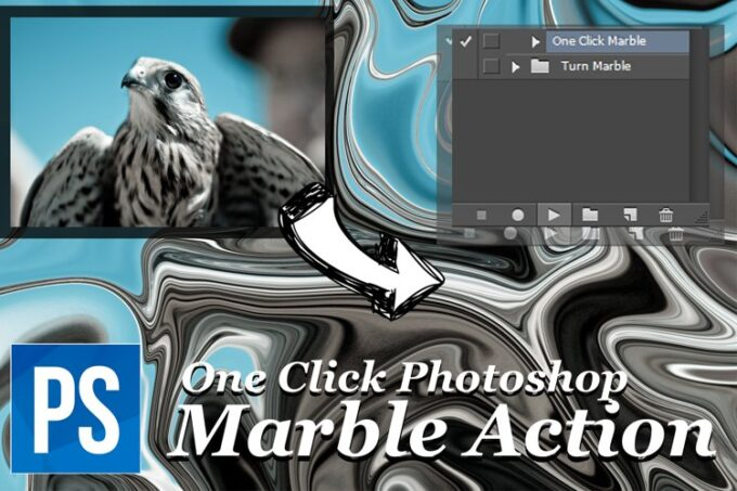 Adobe Photoshop Free Action Material フリー アクション 素材 ユニーク おもしろい One Click Marble
