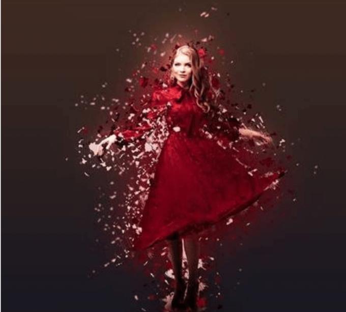 Adobe Photoshop Free Action Material 無料 フリー アクション 素材 ユニーク お洒落 かっこいい パーティクル 粉々 バラバラ Particle Paper Cut Dispersion