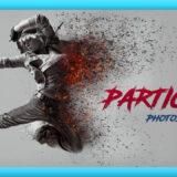 Adobe Photoshop Free Action Material 無料 フリー アクション 素材 ユニーク お洒落 かっこいい パーティクル 粉々 バラバラ Particle