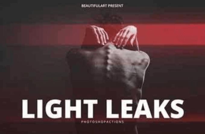 Adobe Photoshop Free Action Material フリー アクション 素材 ライトリーク 光 Pro Light Leaks