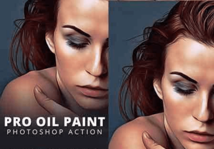 Adobe Photoshop Free Action Material フリー アクション 素材 ウォーターカラー Water Color 水彩 Pro Oil Paint