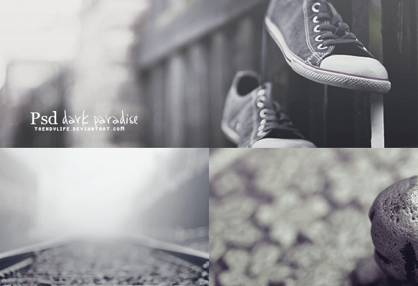 Adobe Photoshop Free Action Material フリー アクション 素材 モノクロ 白黒 Psd Dark Paradise