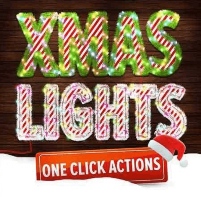 Adobe Photoshop Free Action Material フリー アクション 素材 イラスト 冬 雪 Christmas Lights