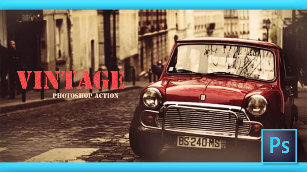 Adobe Photoshop Free Action Material フリー アクション 素材 レトロ ヴィンテージ vintage retro