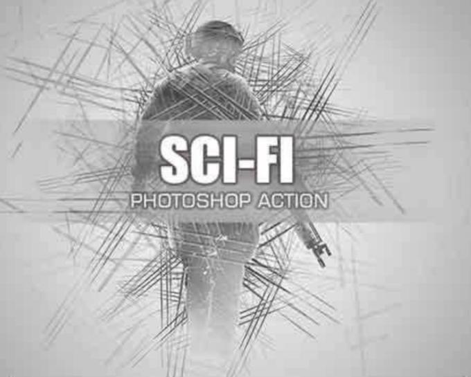 Adobe Photoshop Free Action Material 無料 フリー アクション 素材 お洒落 かっこいい ユニーク  Sci-Fi