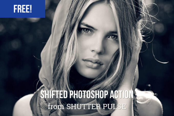 Adobe Photoshop Free Action Material フリー アクション 素材 モノクロ 白黒 Free Shifted Photoshop Action