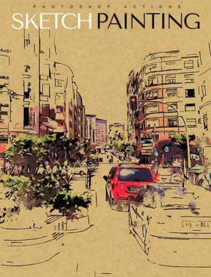 Adobe Photoshop Free Action Material フリー アクション 素材 ペイント スケッチ 水彩 油絵 イラスト 油絵 手書き Sketch Painting