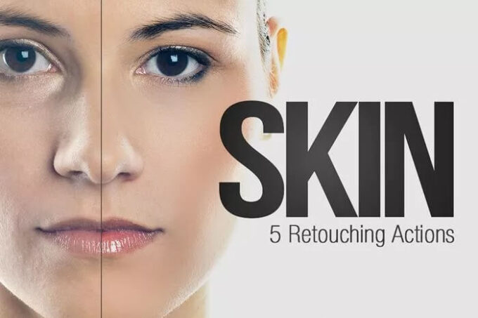 Adobe Photoshop Free Action Material フリー アクション 素材 イラスト スキン 肌 綺麗 加工 合成 Skin Retouching Actions