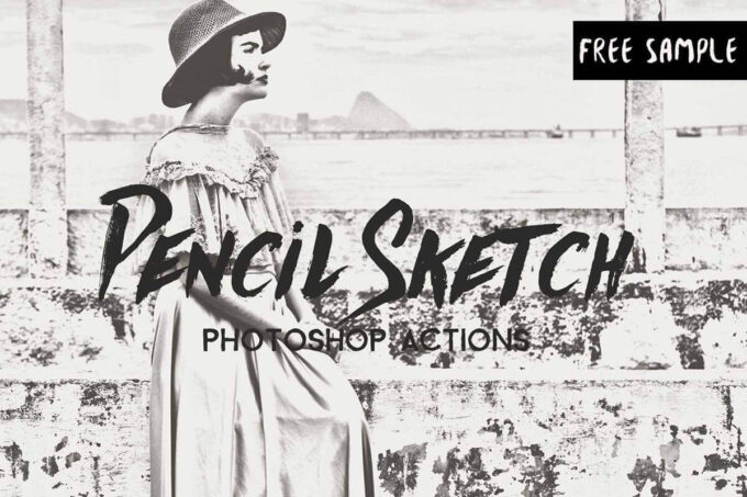 Adobe Photoshop Free Action Material フリー アクション 素材 ペイント スケッチ イラスト 手書き Free Pencil Sketch Photoshop Actions
