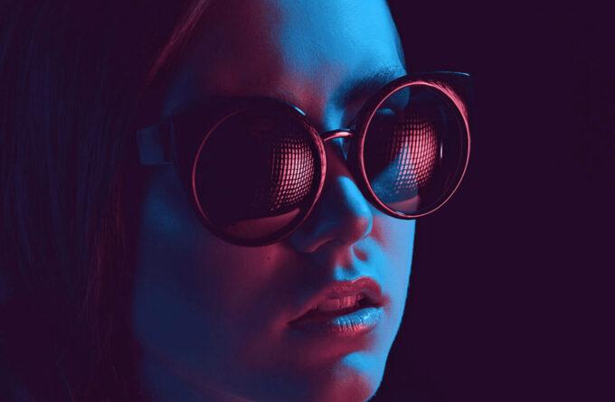 Adobe Photoshop Free Action Material フリー アクション 素材 イラスト グリッチ デジタル サイバー かっこいい Ultra Violet