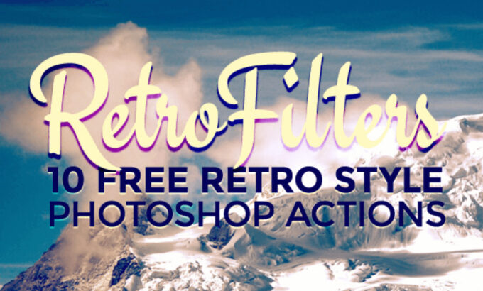 Adobe Photoshop Free Action Material フリー アクション 素材 ヴィンテージ レトロ 10 Free Retro Style Photo Effect