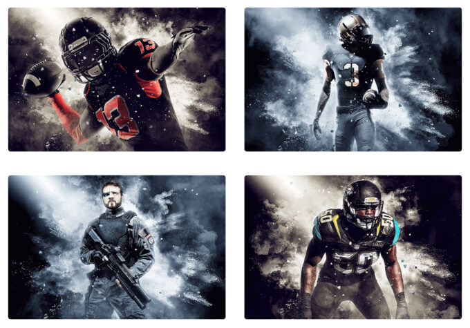 Adobe Photoshop Free Action Material フリー アクション 素材 かっこいい お洒落 WARFIGHTER PHOTOSHOP ACTION
