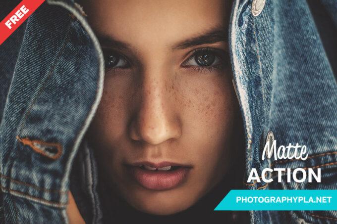 Adobe Photoshop Free Action Material フリー アクション 素材 ヴィンテージ レトロ オールドフィルム マット Free Matte Photoshop Action