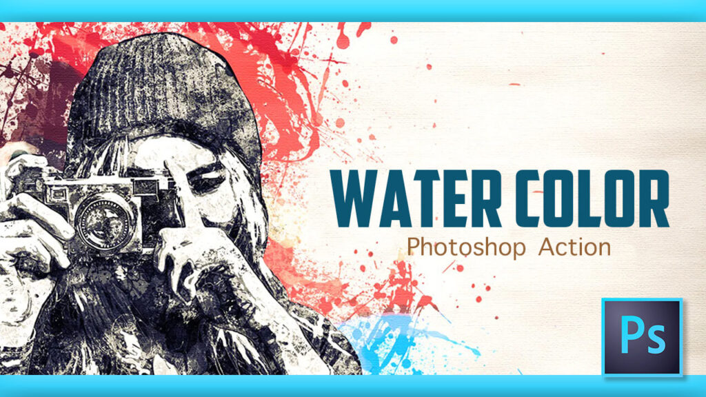 Adobe Photoshop Free Action Material フリー アクション 素材 ウォーターカラー Water Color 水彩