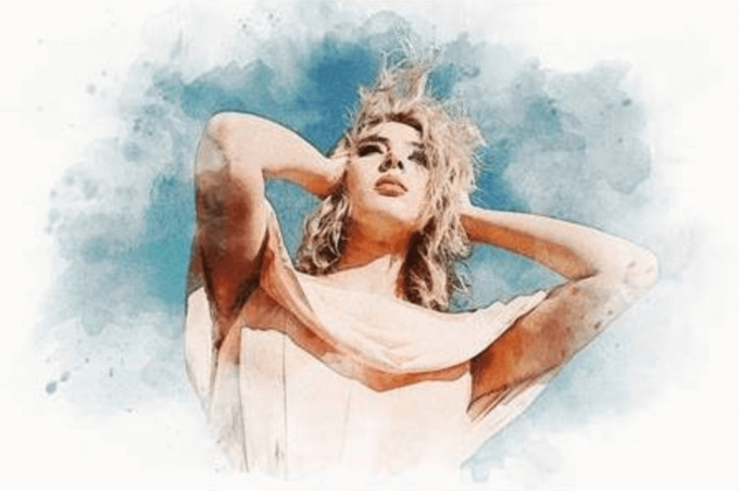 Adobe Photoshop Free Action Material フリー アクション 素材 ウォーターカラー Water Color 水彩 Watercolor Stains Photo Effect