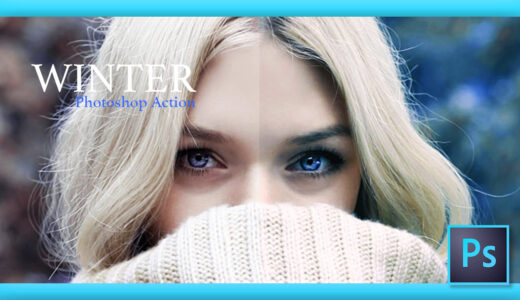 Adobe Photoshop Free Action Material フリー アクション 素材 冬 雪 ウィンター Winter クリスマス