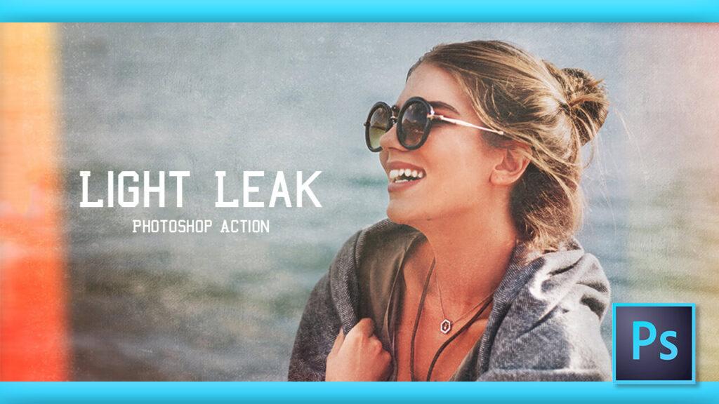 Adobe Photoshop Free Action Material フリー アクション 素材 ライトリーク 光 Light Leak