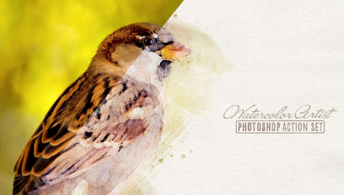 Adobe Photoshop Free Action Material フリー アクション 素材 ウォーターカラー 水彩 Transform Photos into Watercolors