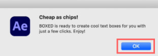 After Effects Free Script BOXED 無料 フリー スクリプト インストール 手順 Cheap as Chips