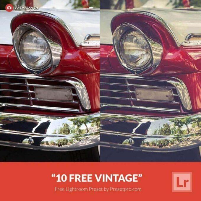 Adobe Lightroom Free Preset .xmp .lrtemplate Retro Vintage 無料 フリー ヴィンテージ レトロ 10 Free Vintage Lightroom Presets