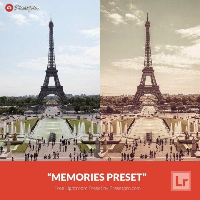 Adobe Lightroom Free Preset .xmp .lrtemplate Retro Vintage 無料 フリー ヴィンテージ レトロ Free Lightroom Preset Memories