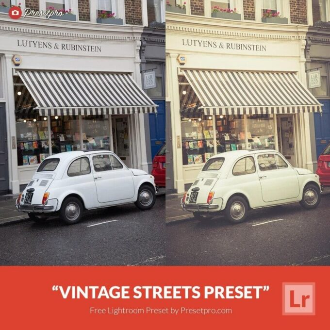 Adobe Lightroom Free Preset .xmp .lrtemplate Retro Vintage 無料 フリー ヴィンテージ レトロ Free Lightroom Preset Vintage Streets